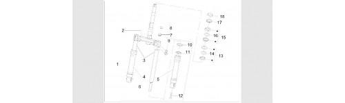 Composants de la fourche (Escorte marque de la fourche)