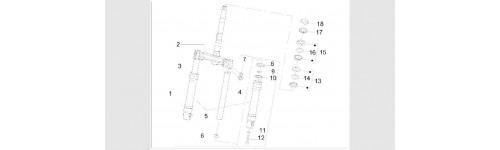 Composants de la fourche (MVP Marque De La Fourche)